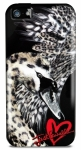 Чехол-накладка для iPhone 5 / 5S Puro Just Cavalli Saint Valintine Collection (JCIPC5SWAN1)