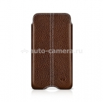 Кожаный чехол для iPod Touch 4G Beyzacases Zero Series Leather Case, цвет flo brown (BZ20324)